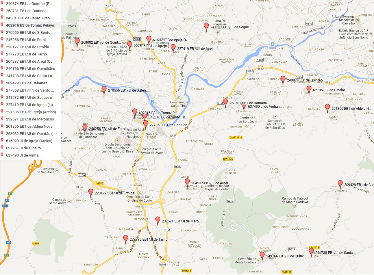Agrupamento de Escolas - Localização