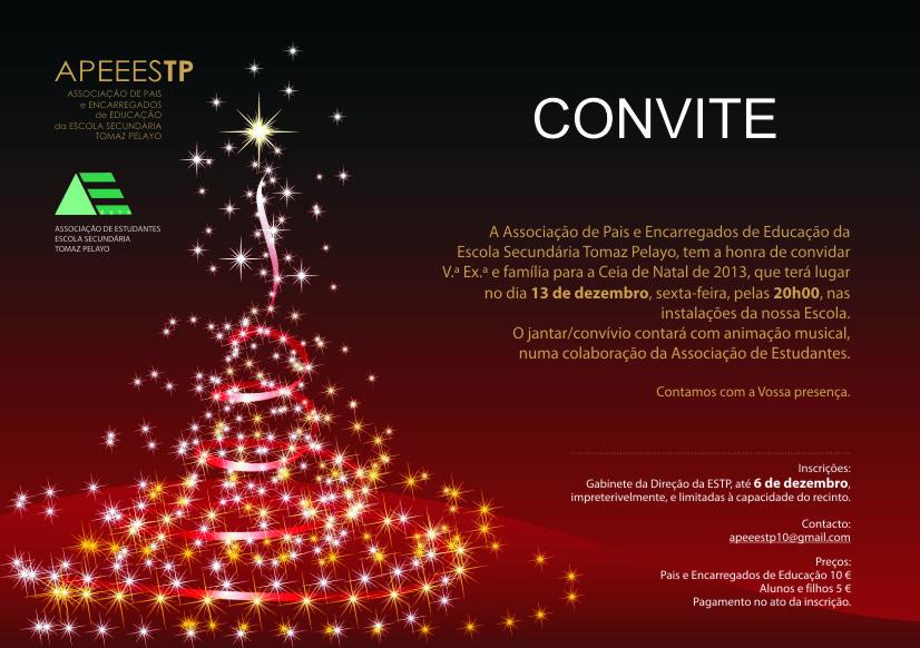 Convite Ceia de Natal