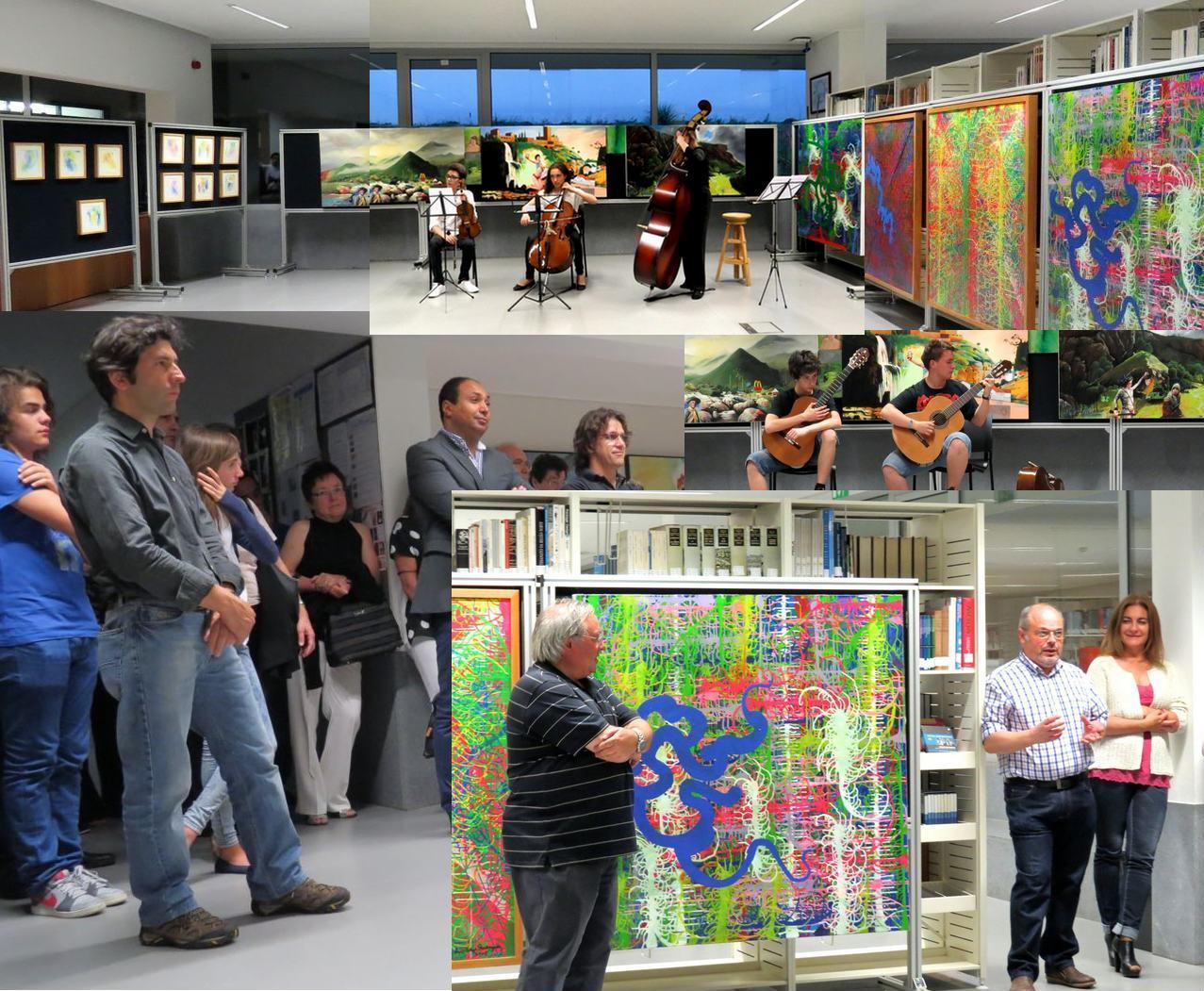 Sessão de inauguração da exposição
